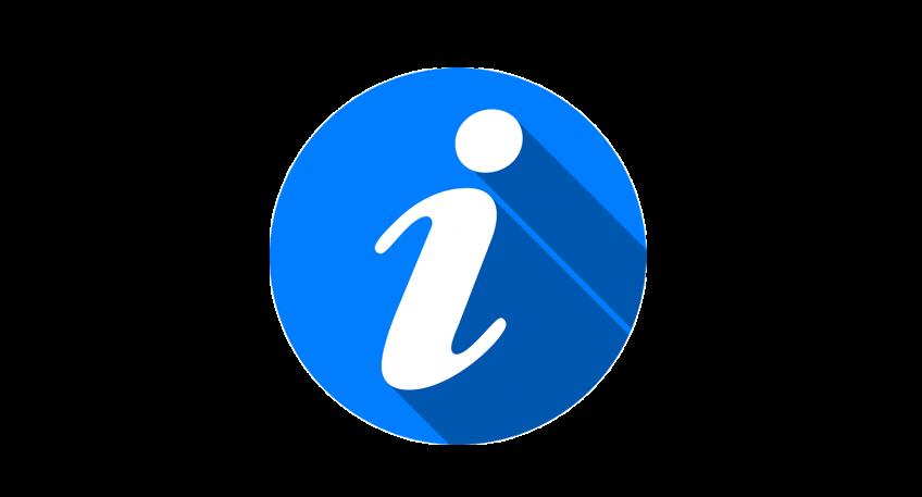 Piktogram. Niebieskie koło z białą literką