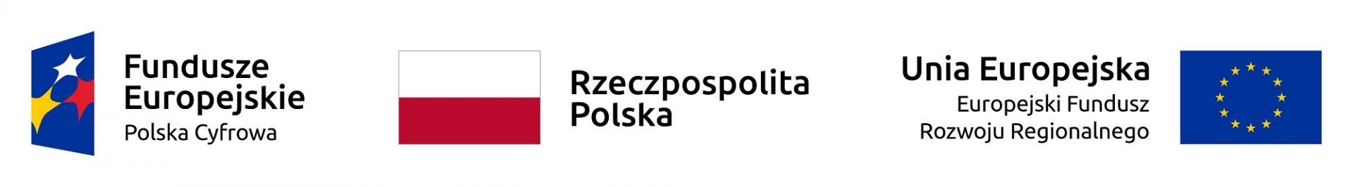 Logotypy: Program Operacyjny Polska Cyfrowa, Rzeczpospolita Polska, Unia Europejska - Europejski Fundusz Rozwoju Regionalnego