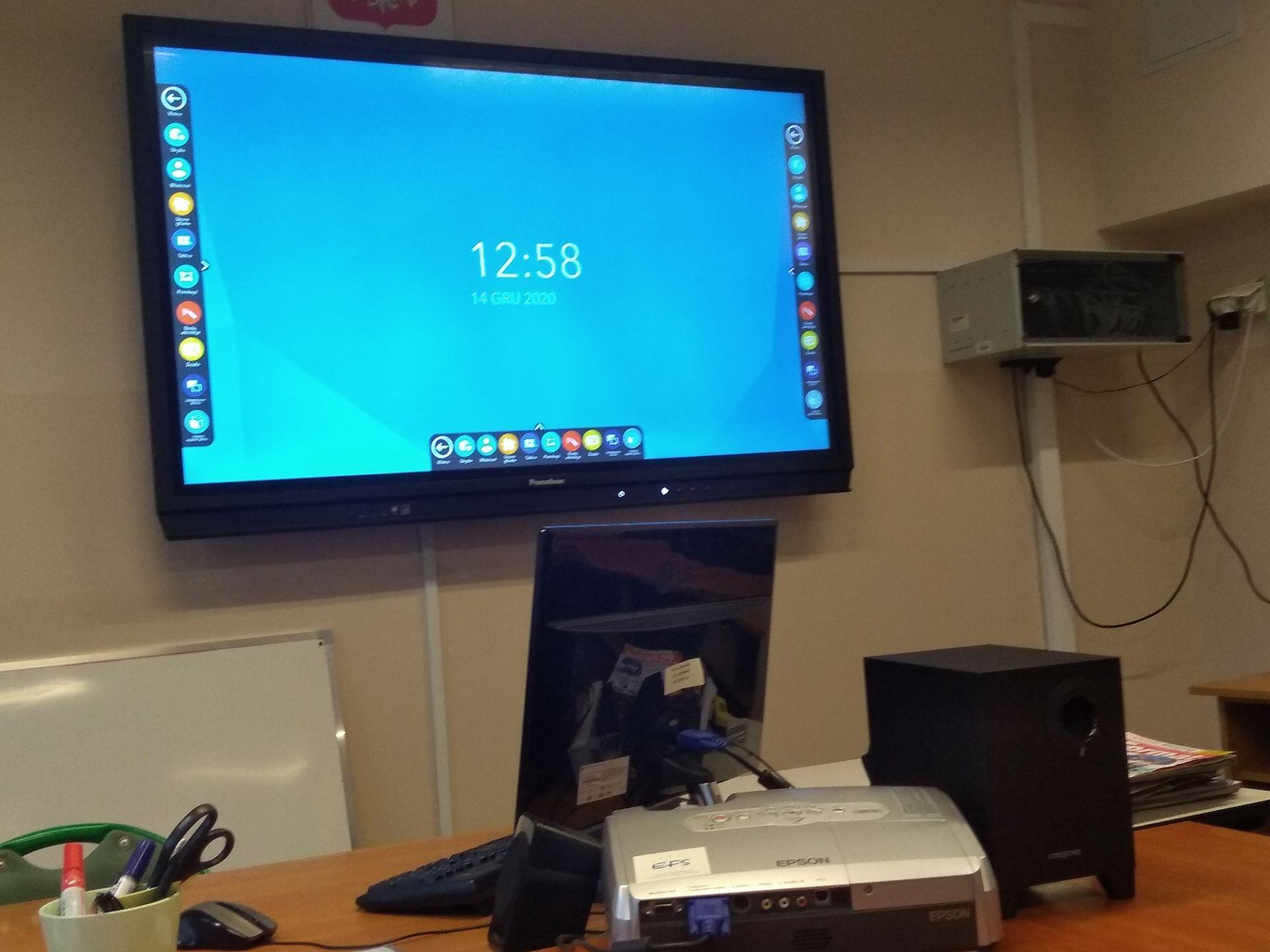 Interaktywny monitor dotykowy