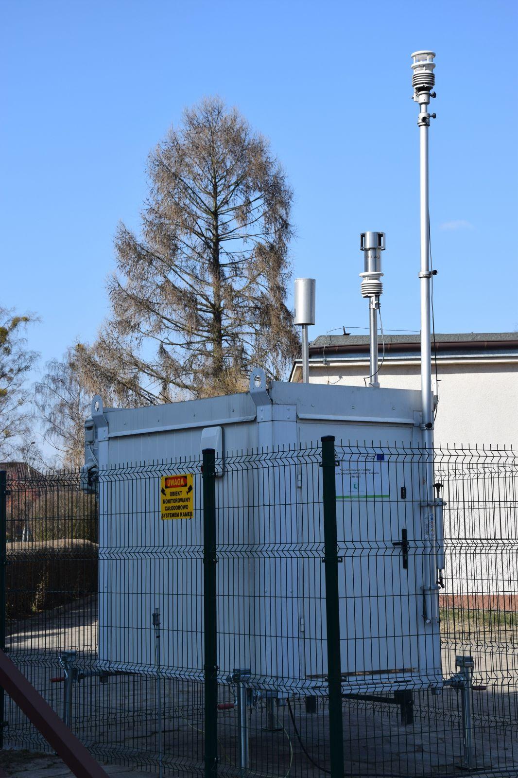 Stacja pomiarowa badająca jakość powietrza