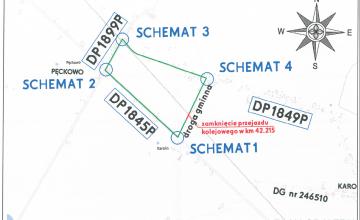 mapa objazdu przez Pęckowo